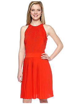 Calvin Klein Halter Pleated Dress