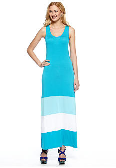 Calvin Klein Racer Back Colorblock Tank Maxi Dress