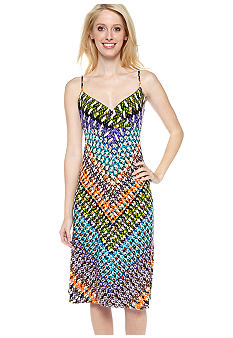 Calvin Klein Spaghetti Strap Printed Dress