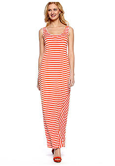Sleeveless Stripe Tank Maxi Dress