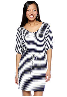 Calvin Klein Short-Sleeved Stripe Dress