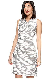 Calvin Klein Sleeveless Stripe Sheath Dress