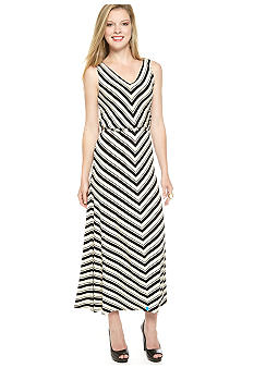 Calvin Klein Sleeveless Stripped Maxi Dress
