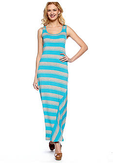 Calvin Klein Sleeveless Stripe Tank Maxi Dress