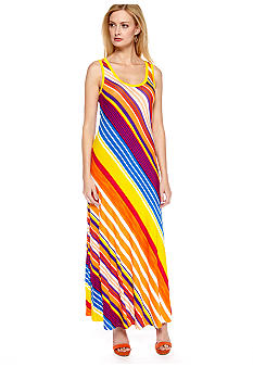 Calvin Klein Sleeveless Stripe Maxi Dress