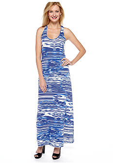 Calvin Klein Sleeveless Racer-Back Maxi Dress