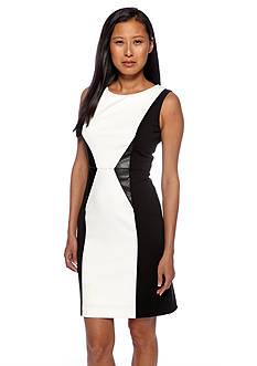 Calvin Klein Sleeveless Color Block Sheath Dress
