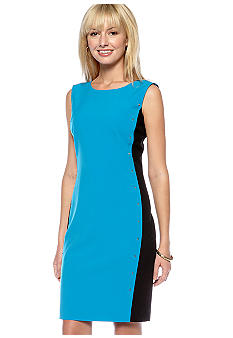 Calvin Klein Sleeveless Colorblock Sheath Dress