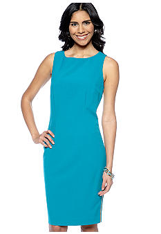 Calvin Klein Sleeveless Sheath with Side Chain Detail
