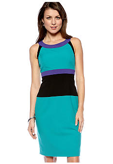 Calvin Klein Halter Colorblock Sheath Dress