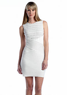 Calvin Klein Sleeveless Sheath Dress with Lace