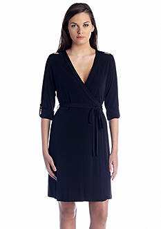 Calvin Klein Long-Sleeve Wrap Dress