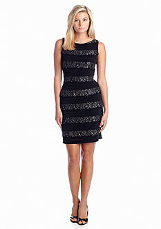 Calvin Klein Lace Tiered Sheath Dress