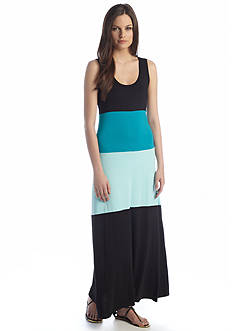 Calvin Klein Sleeveless Colorblock Maxi Dress