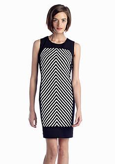 Calvin Klein Diagonal Stripe Sheath Dress