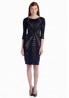Calvin Klein Three-Quarter Sleeve Sheath Dress