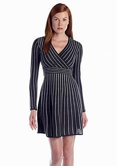 Calvin Klein Striped Sweaterdress