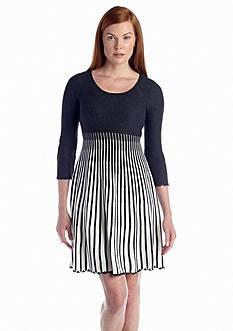 Calvin Klein Three-Quarter Sleeve Sweaterdress