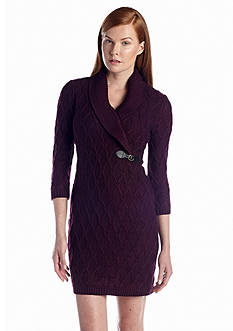 Calvin Klein Cable Knit Sweaterdress
