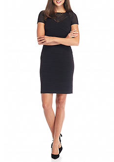 Calvin Klein Mesh Stripe Sheath Dress