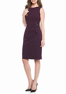 Calvin Klein Side Buckle Sheath Dress