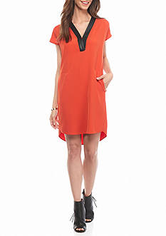 Calvin Klein Deep V-Neck Shift Dress