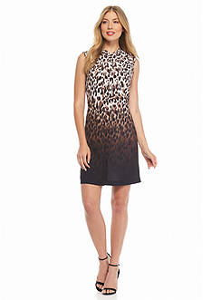 Calvin Klein Leopard Printed Shift Dress