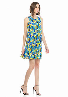 Calvin Klein Printed Trapeze Dress