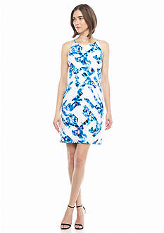 Calvin Klein Water Print Sheath Dress
