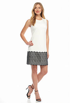 Calvin Klein Scuba and Lace Sheath Dress