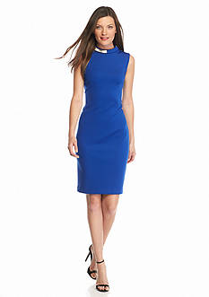 Calvin Klein Scuba Sheath Dress with Necklace