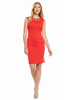 Calvin Klein Ponte Sheath Dress
