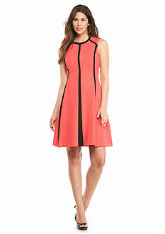 Calvin Klein Colorblock A-line Dress