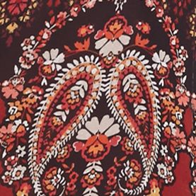 As U  Wish Dresses: Wine/Burgundy As U  Wish Paisley Shift Dress