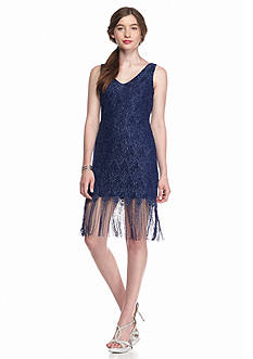 As U  Wish Fringe Bottom Lace Dress