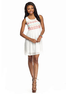 As U  Wish Embroidered Top Shift Dress