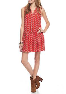 As U  Wish Drop Waist Printed Dress