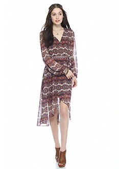 As U  Wish Printed Prairie Maxi Dress