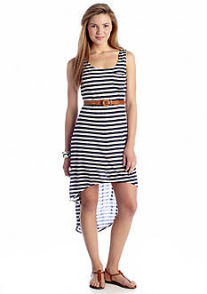 As U  Wish Belted Knit Tank Dress