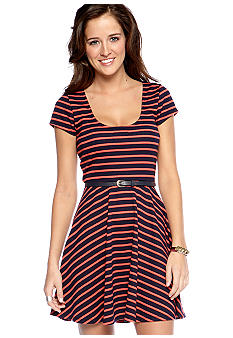 As U  Wish Stripe Skater Dress