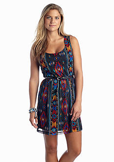 As U  Wish Printed Lace Tank Dress