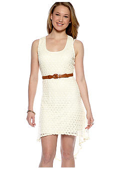 As U  Wish Sleeveless Crochet Hi Lo