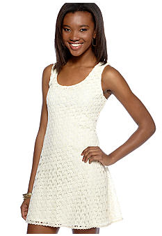 As U  Wish Sleeveless Crochet Sheath Dress