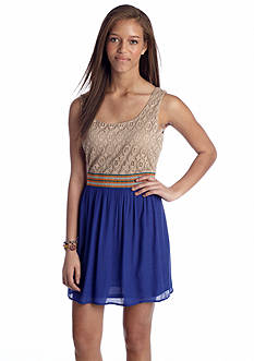 As U  Wish Knit to Woven Tank Dress