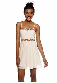 As U  Wish Embroidered Trim Cut Out Dress