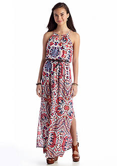 As U  Wish Abstract Floral Maxi Dress