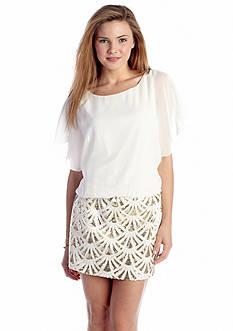 As U  Wish Sequin Fan Skirt Dress