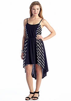As U  Wish Side Stripe Tank Dress