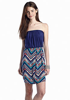 As U  Wish Knit to Woven Tube Dress