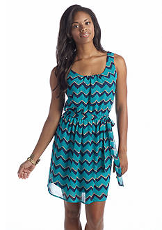 As U  Wish Chevron Tank Dress